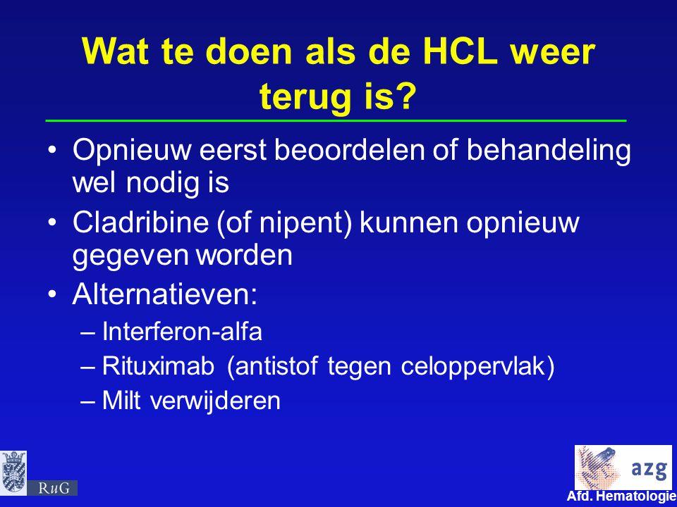 Wat te doen als de HCL weer terug is