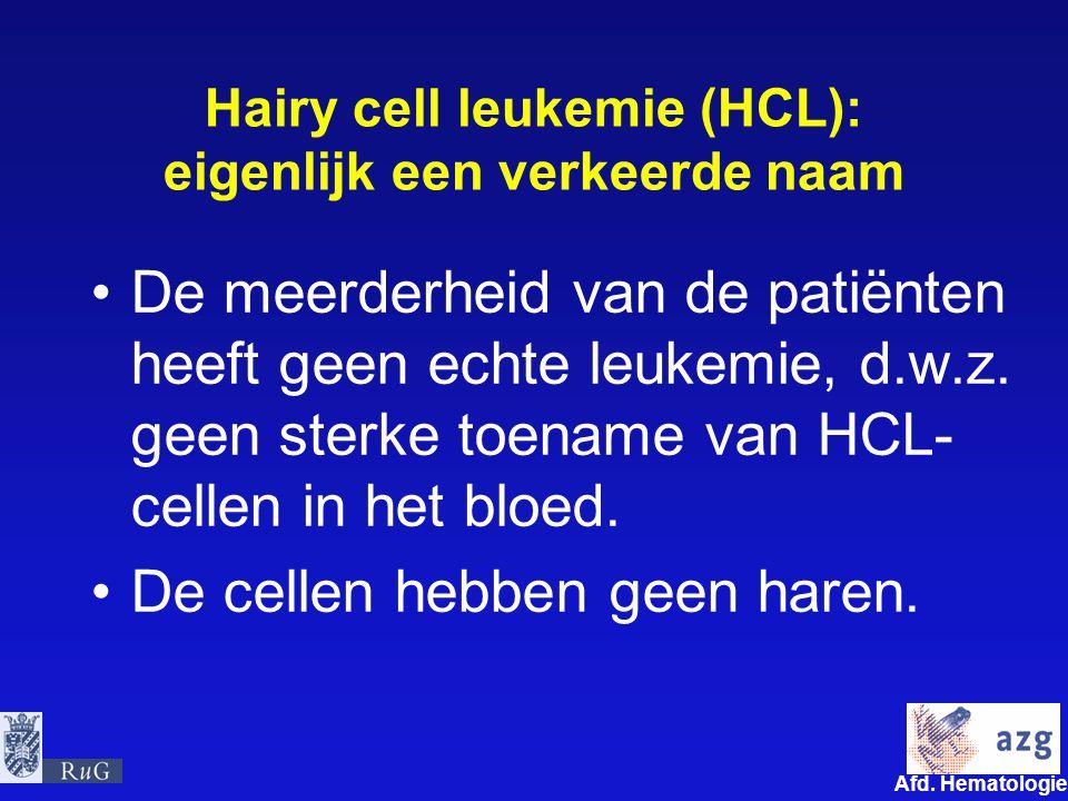 Hairy cell leukemie (HCL): eigenlijk een verkeerde naam
