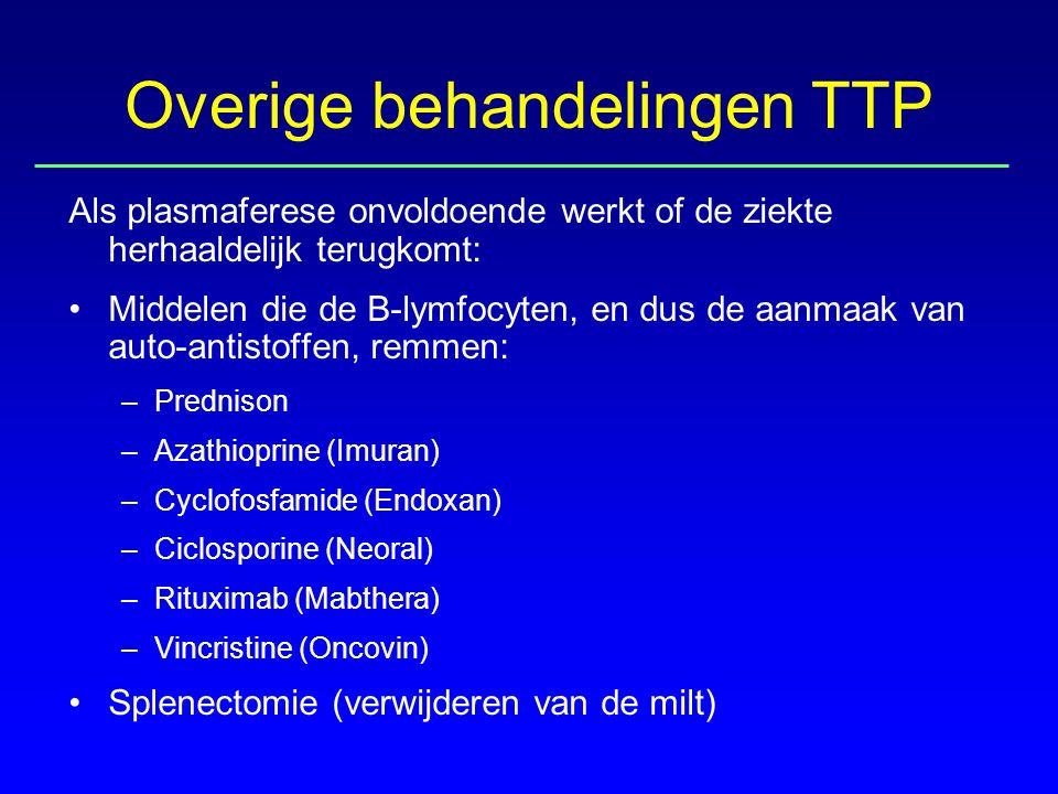 Overige behandelingen TTP