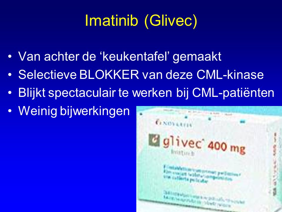 Imatinib (Glivec) Van achter de 'keukentafel' gemaakt