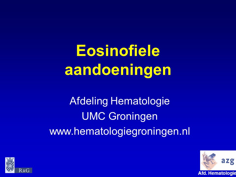 Eosinofiele aandoeningen