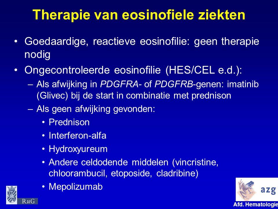 Therapie van eosinofiele ziekten