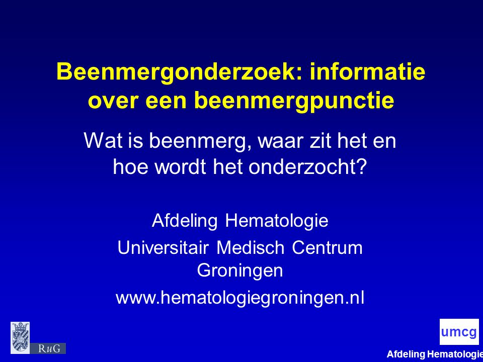 Beenmergonderzoek: informatie over een beenmergpunctie