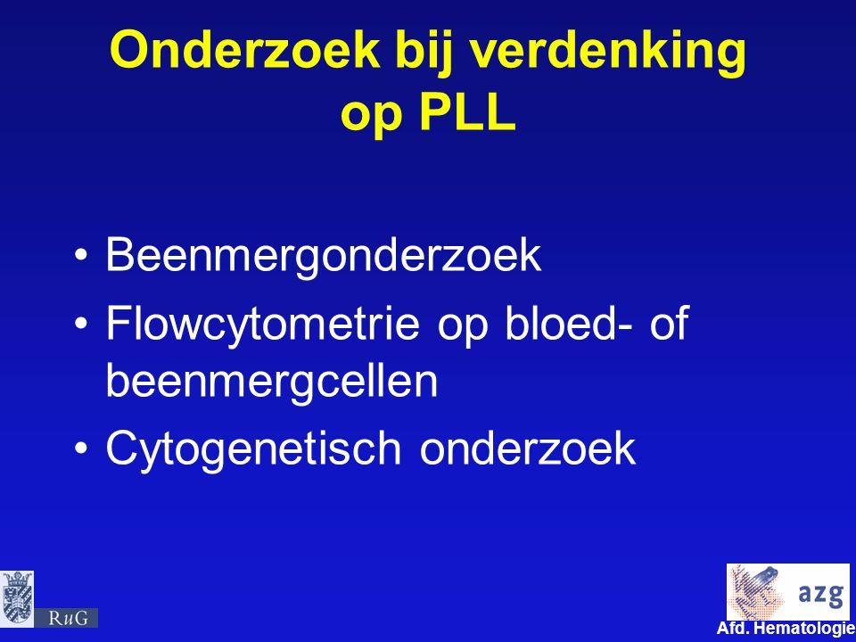 Onderzoek bij verdenking op PLL