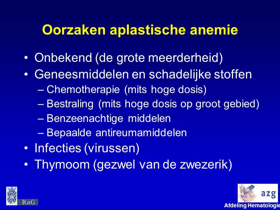 Oorzaken aplastische anemie