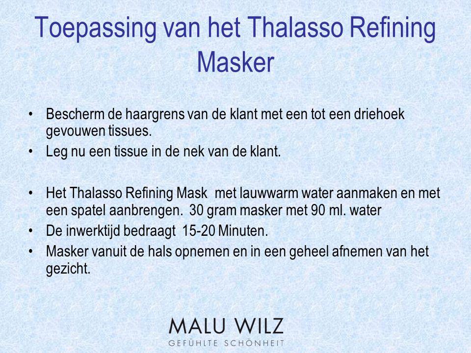 Toepassing van het Thalasso Refining Masker