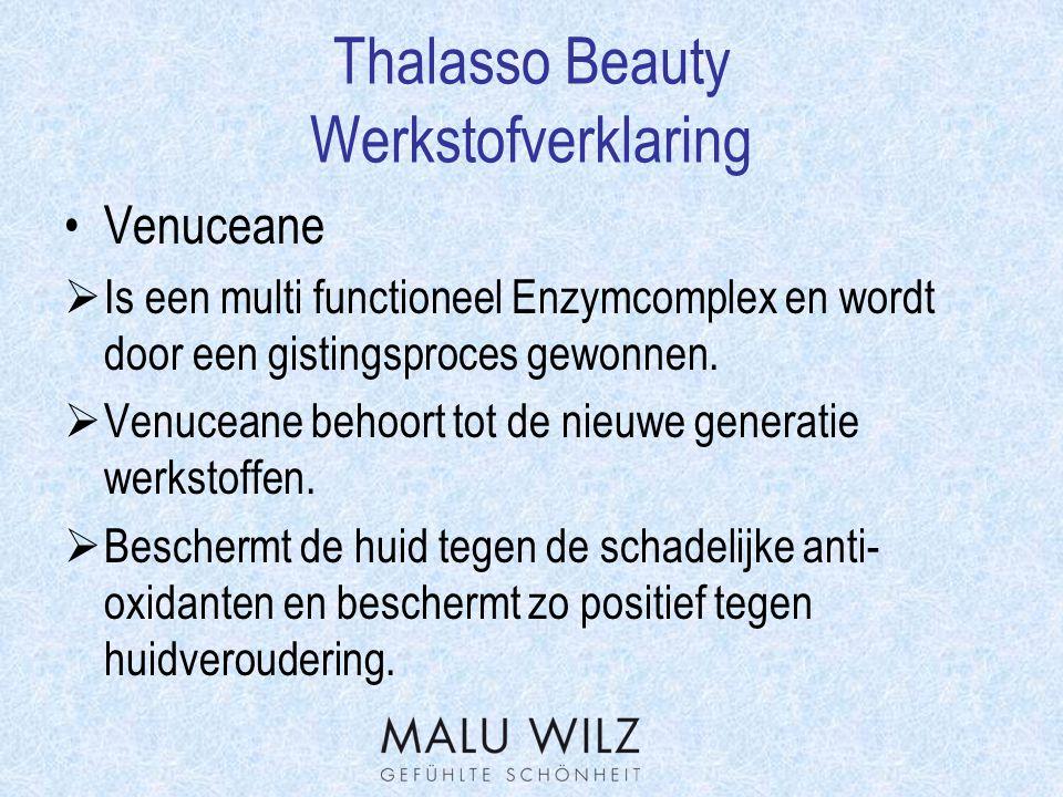 Thalasso Beauty Werkstofverklaring