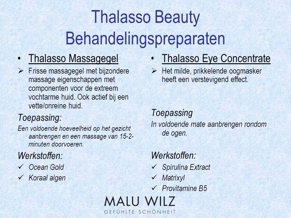 Thalasso Beauty Behandelingspreparaten