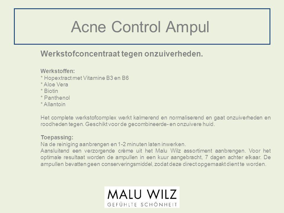 Acne Control Ampul Werkstofconcentraat tegen onzuiverheden.