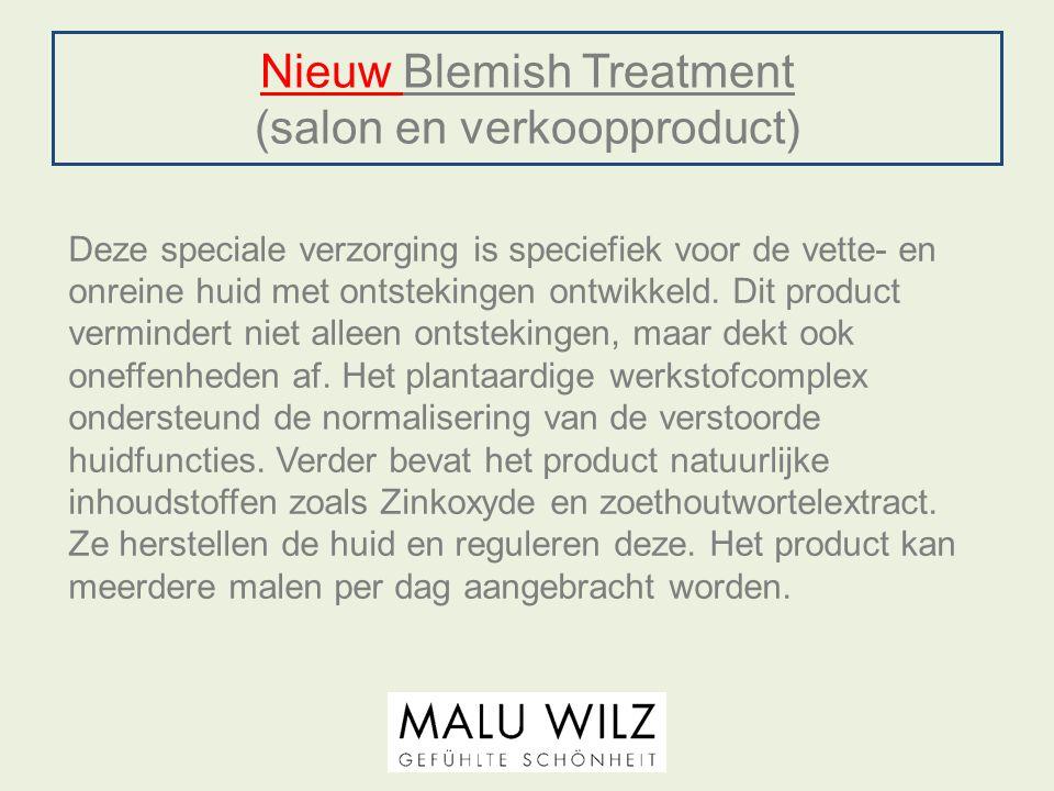 Nieuw Blemish Treatment (salon en verkoopproduct)
