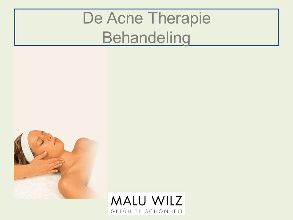 De Acne Therapie Behandeling