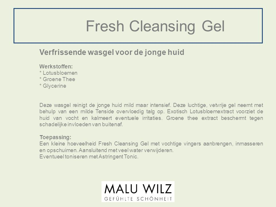 Fresh Cleansing Gel Verfrissende wasgel voor de jonge huid