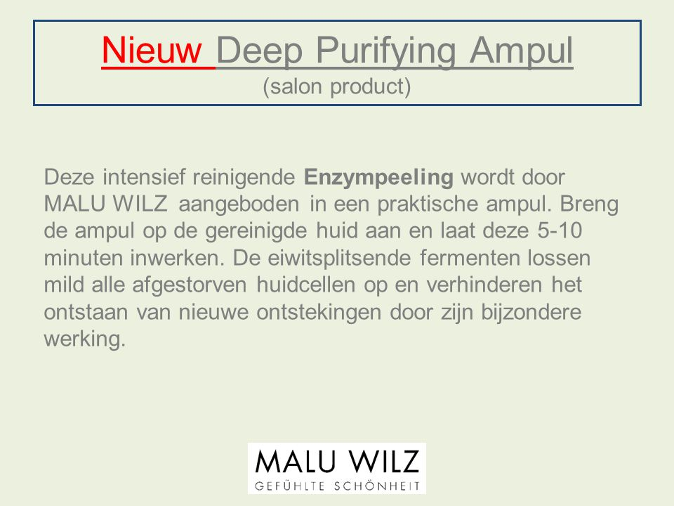 Nieuw Deep Purifying Ampul (salon product)