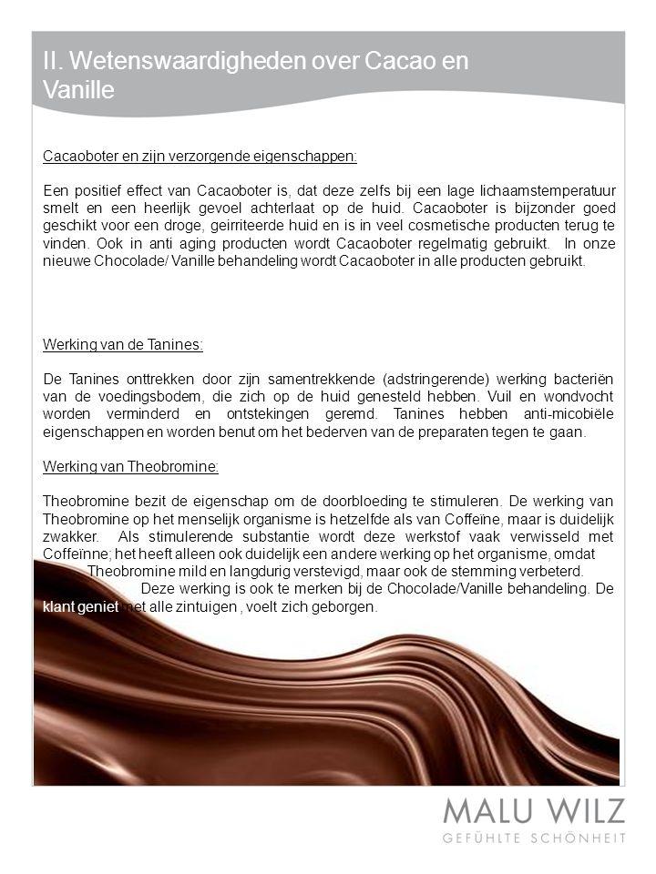 II. Wetenswaardigheden over Cacao en Vanille