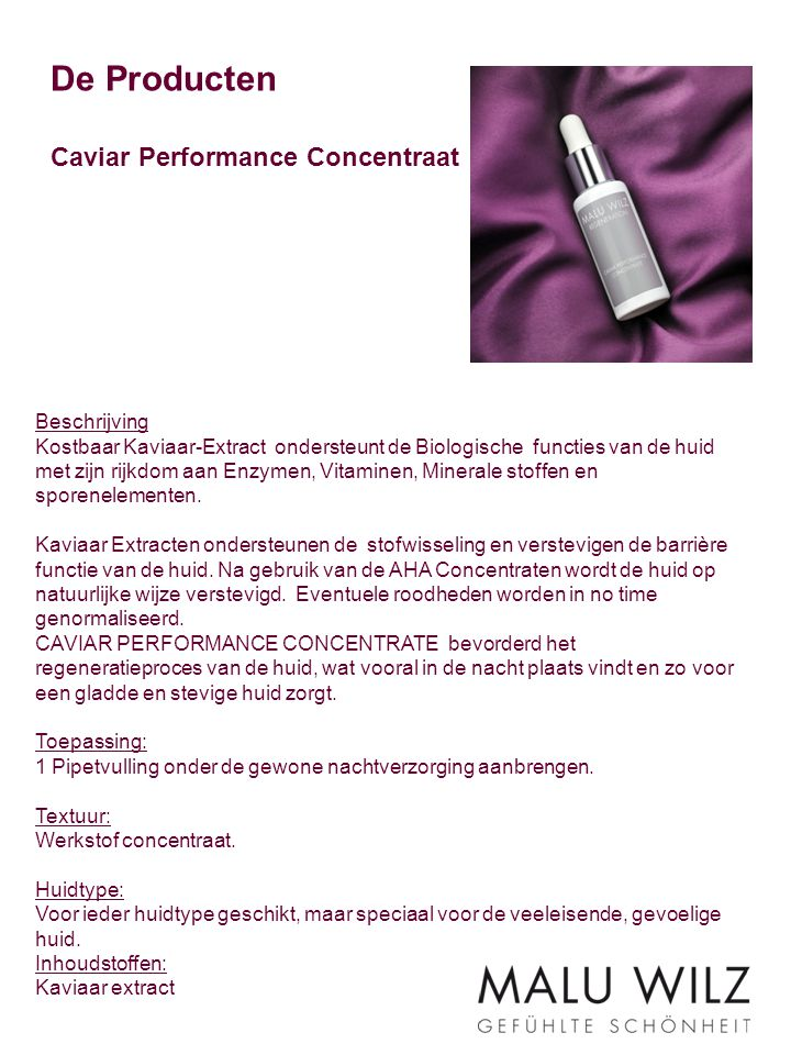 De Producten Caviar Performance Concentraat