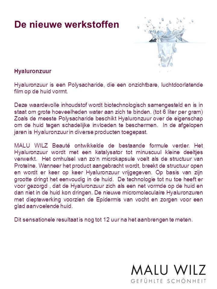 De nieuwe werkstoffen Hyaluronzuur