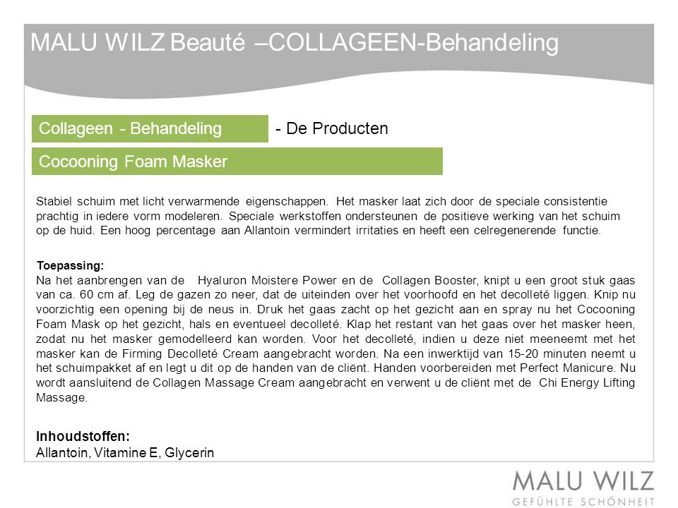 MALU WILZ Beauté –COLLAGEEN-Behandeling