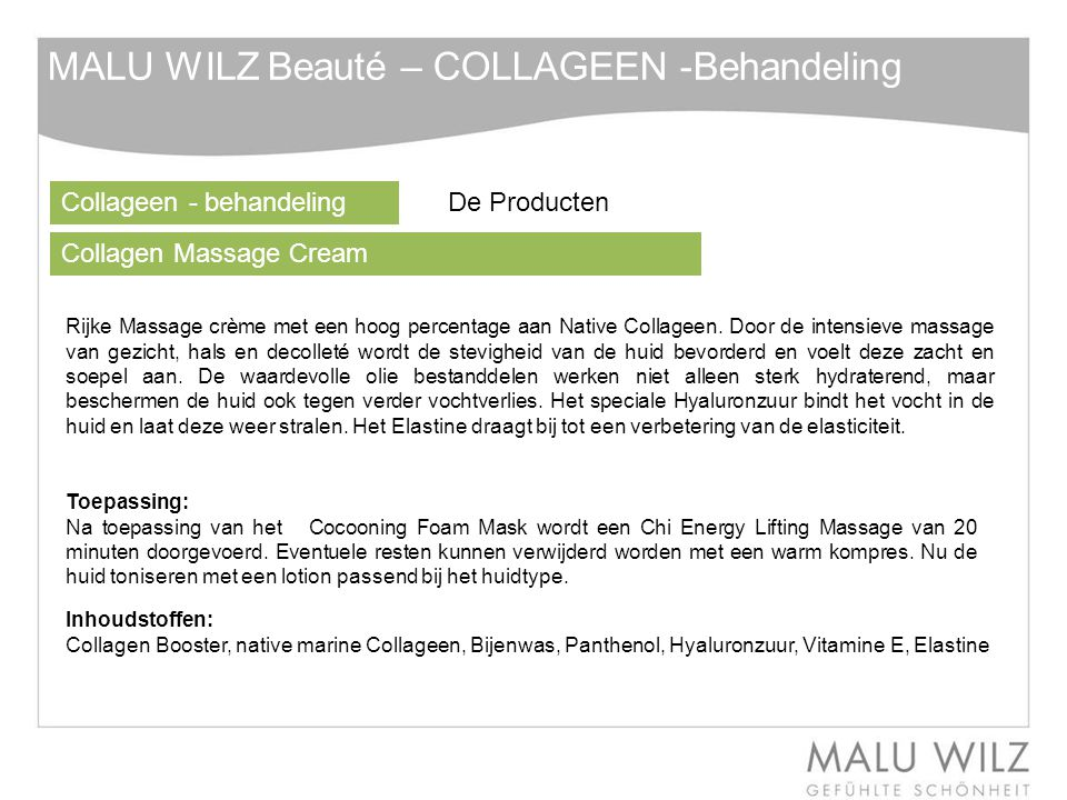 MALU WILZ Beauté – COLLAGEEN -Behandeling