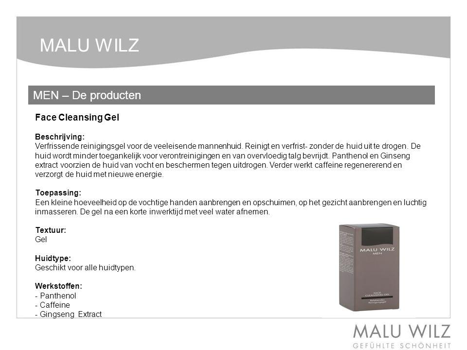 MALU WILZ MEN – De producten Face Cleansing Gel Beschrijving: