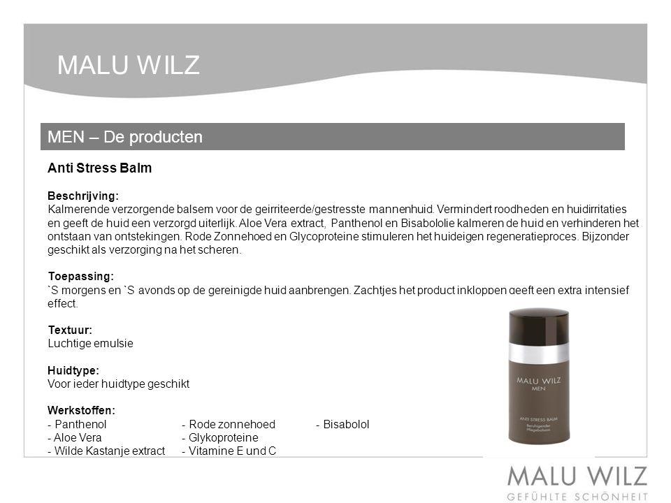 MALU WILZ MEN – De producten Anti Stress Balm Beschrijving: