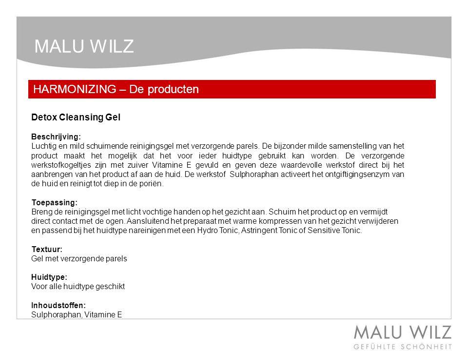 MALU WILZ HARMONIZING – De producten Detox Cleansing Gel Beschrijving: