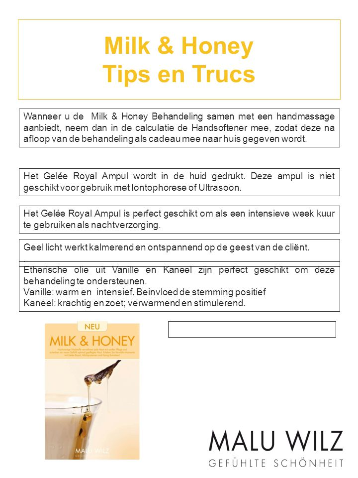 Milk & Honey Tips en Trucs