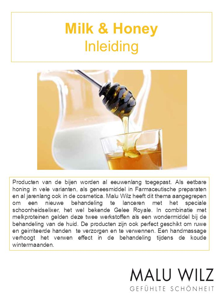 Milk & Honey Inleiding