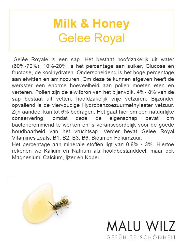 Milk & Honey Gelee Royal