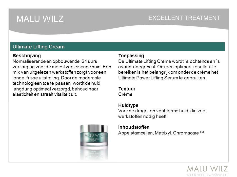 MALU WILZ Ultimate Lifting Cream Beschrijving