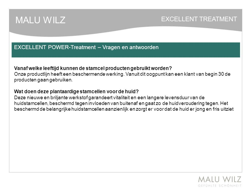 MALU WILZ EXCELLENT POWER-Treatment – Vragen en antwoorden