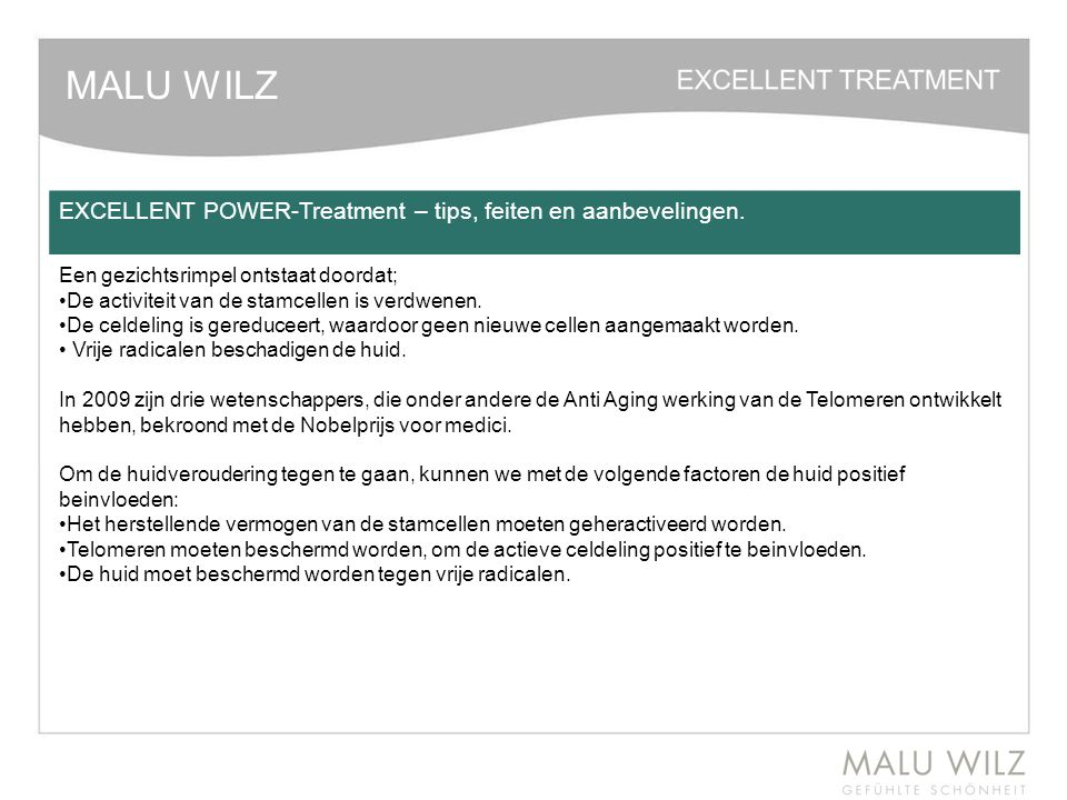 MALU WILZ EXCELLENT POWER-Treatment – tips, feiten en aanbevelingen.