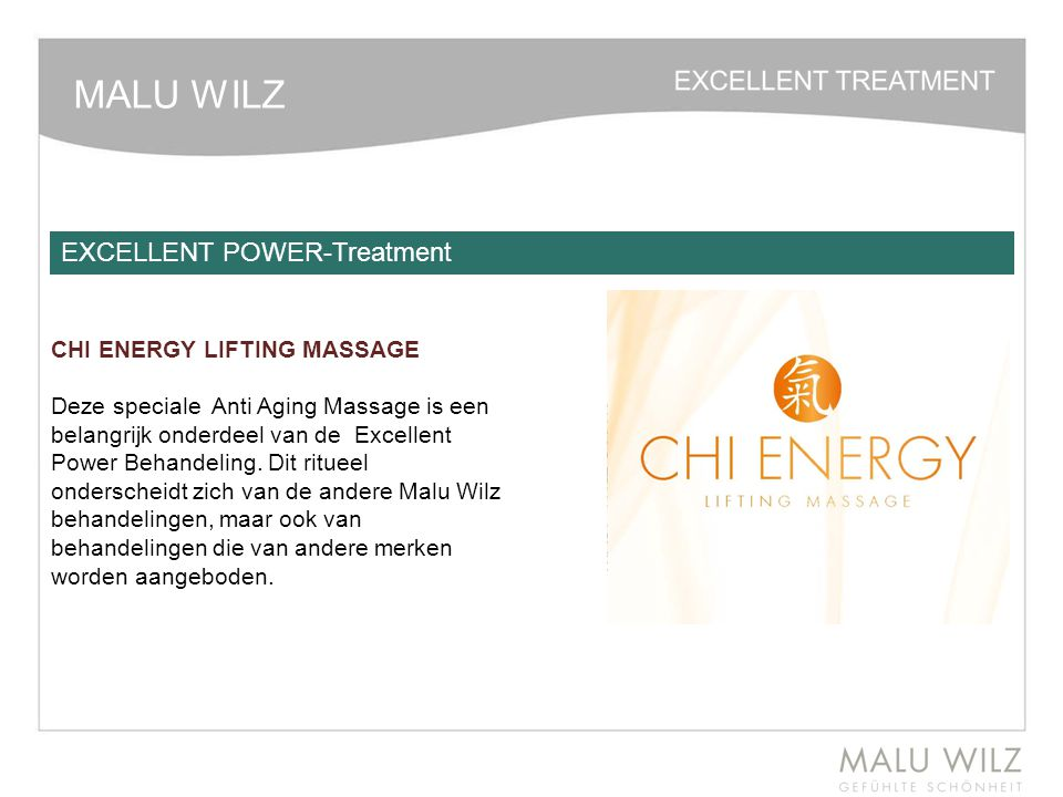 MALU WILZ EXCELLENT POWER-Treatment CHI ENERGY LIFTING MASSAGE