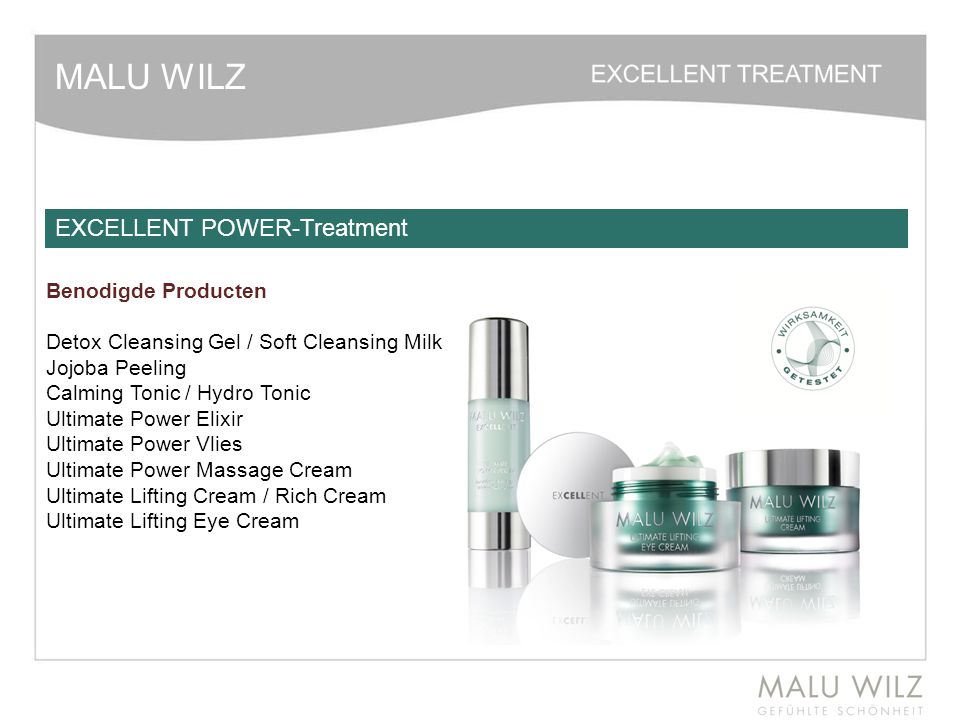 MALU WILZ EXCELLENT POWER-Treatment Benodigde Producten