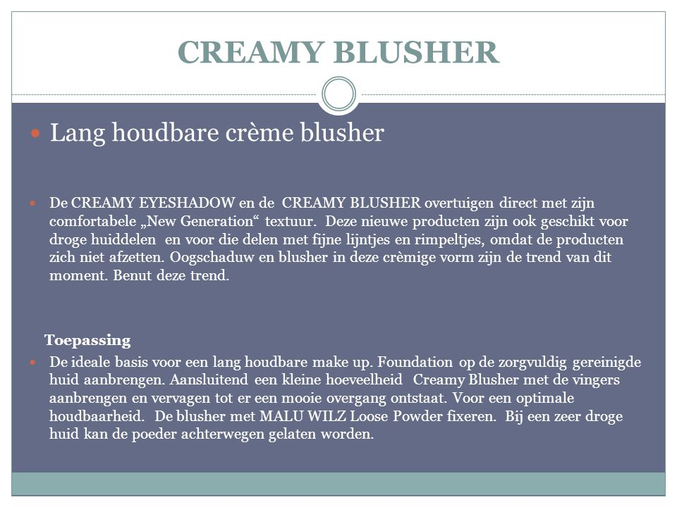 CREAMY BLUSHER Lang houdbare crème blusher