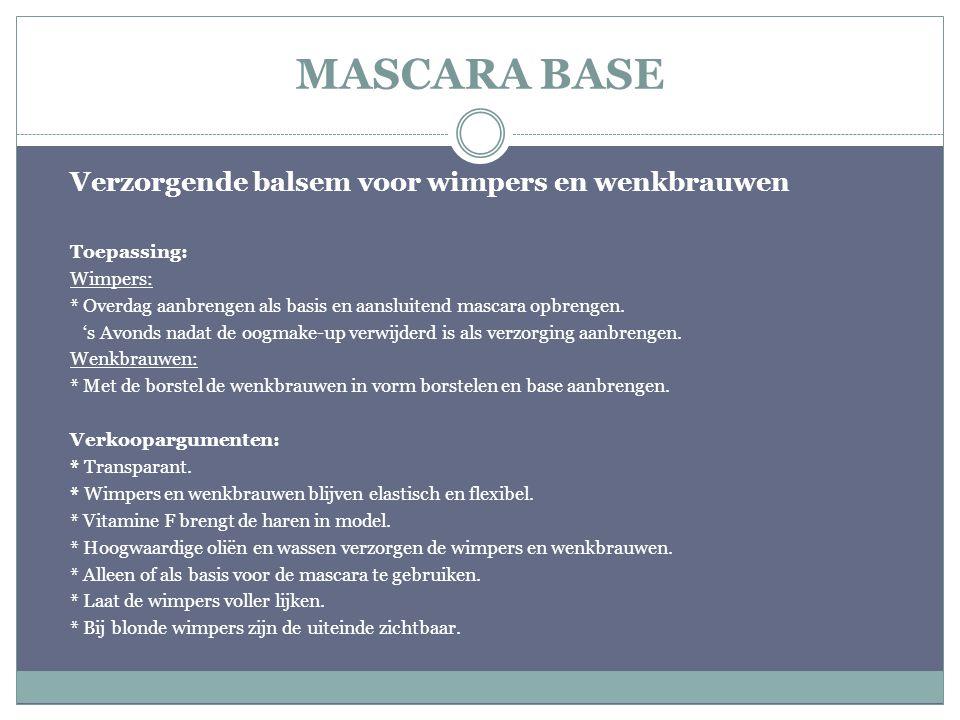 MASCARA BASE Verzorgende balsem voor wimpers en wenkbrauwen