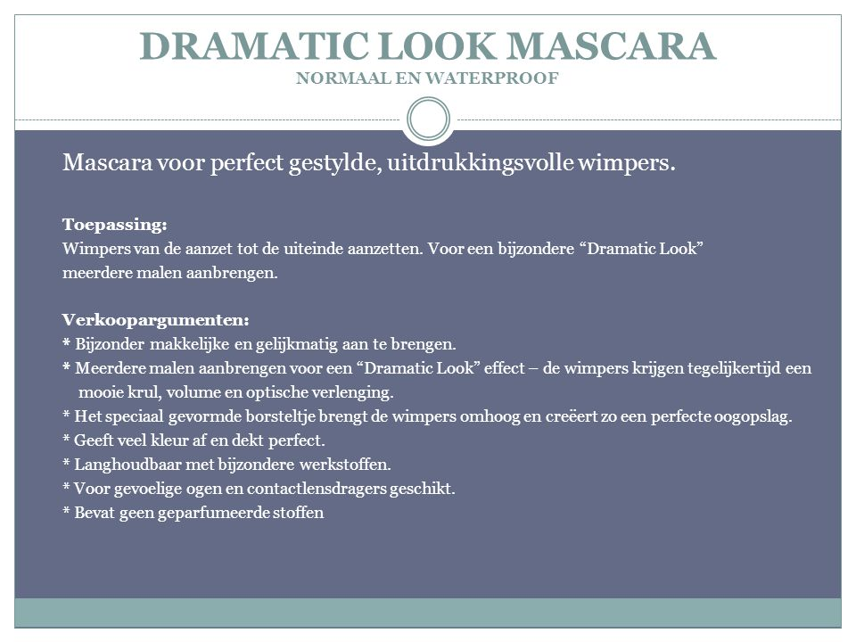 DRAMATIC LOOK MASCARA NORMAAL EN WATERPROOF