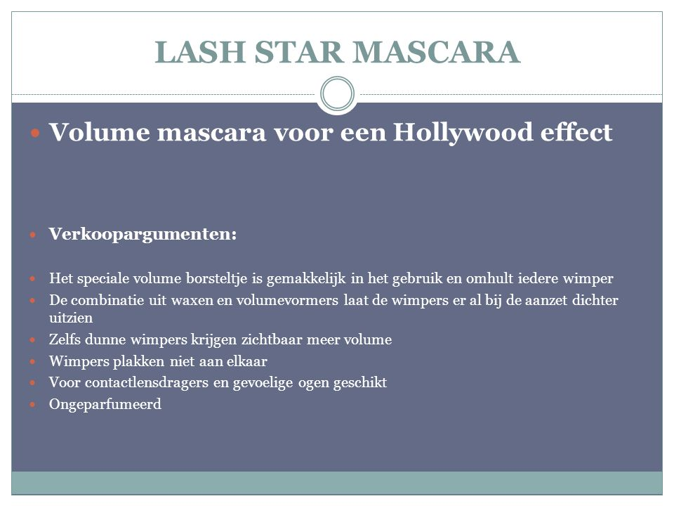 LASH STAR MASCARA Volume mascara voor een Hollywood effect