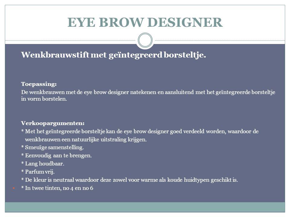 EYE BROW DESIGNER Wenkbrauwstift met geïntegreerd borsteltje.