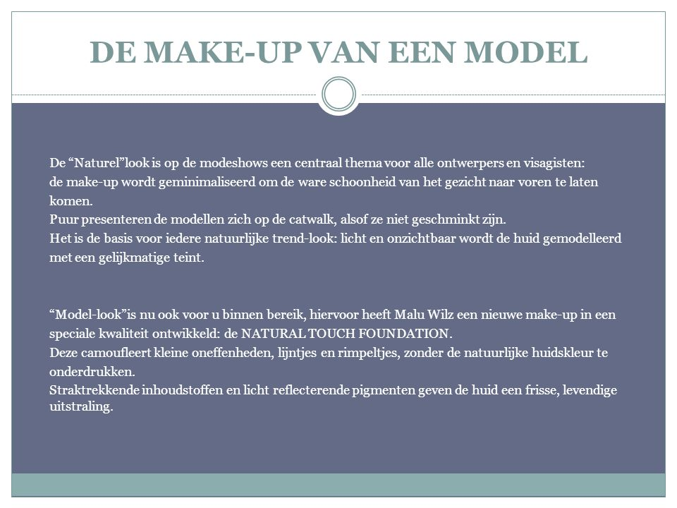 DE MAKE-UP VAN EEN MODEL