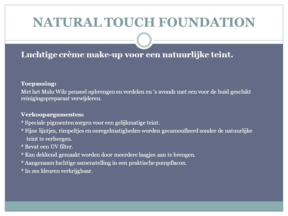 NATURAL TOUCH FOUNDATION