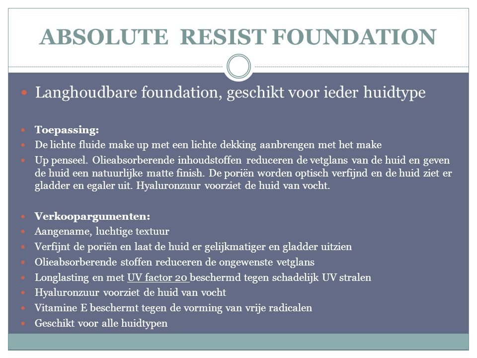 ABSOLUTE RESIST FOUNDATION