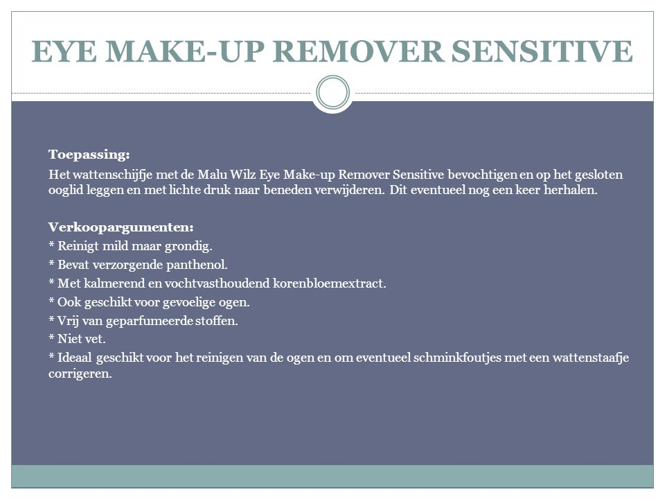 EYE MAKE-UP REMOVER SENSITIVE
