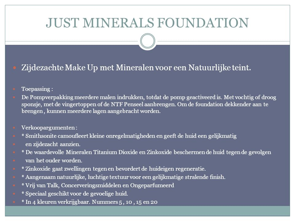 JUST MINERALS FOUNDATION