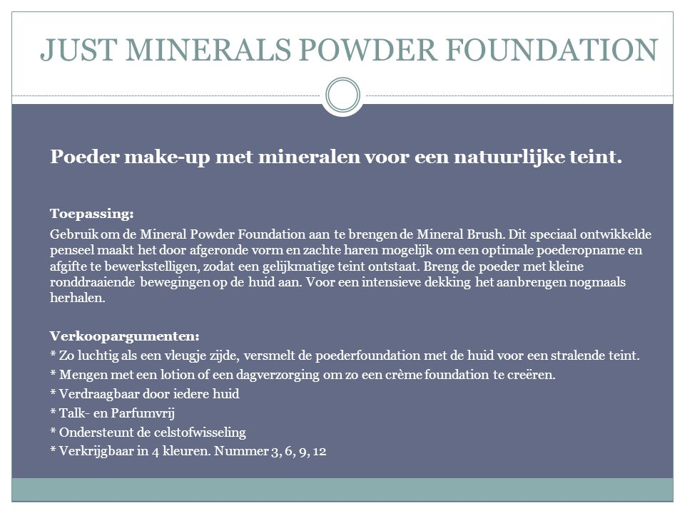 JUST MINERALS POWDER FOUNDATION