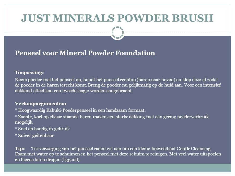 JUST MINERALS POWDER BRUSH