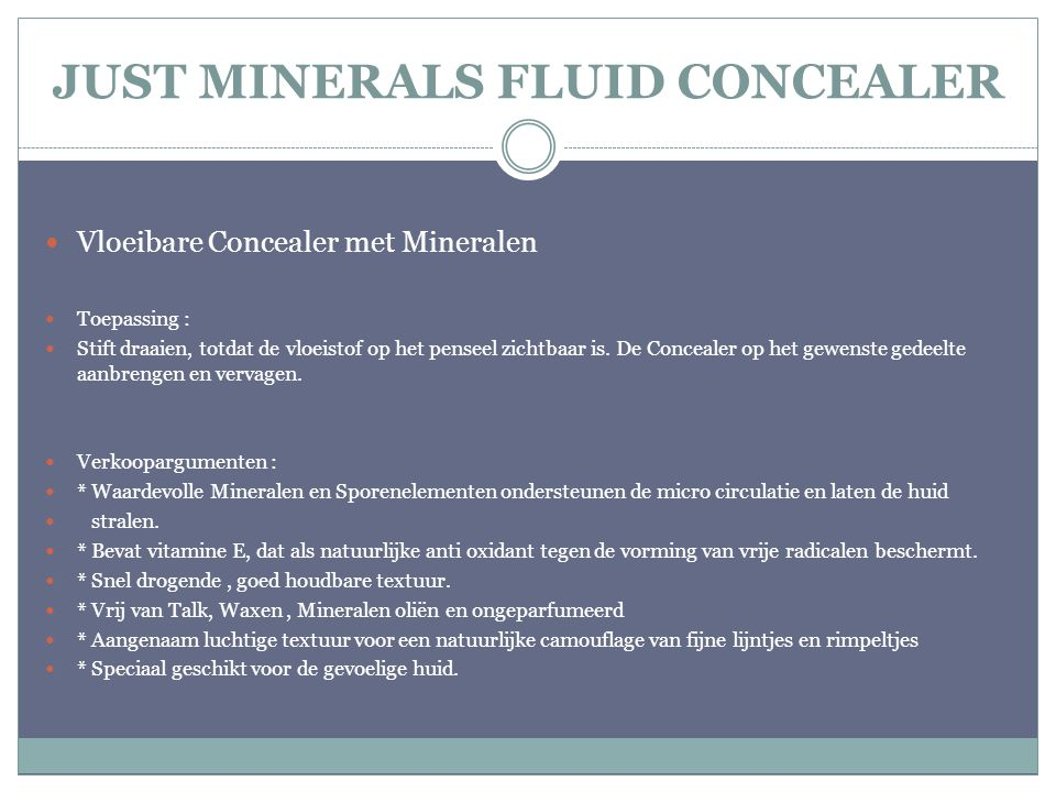 JUST MINERALS FLUID CONCEALER