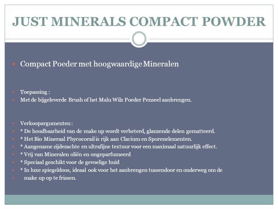 JUST MINERALS COMPACT POWDER
