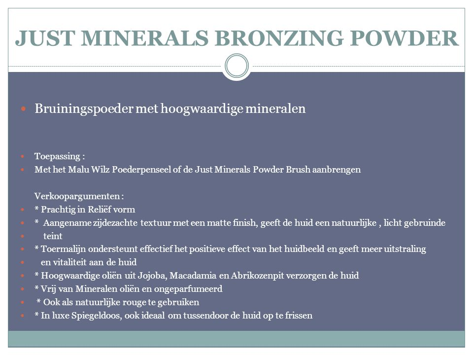 JUST MINERALS BRONZING POWDER