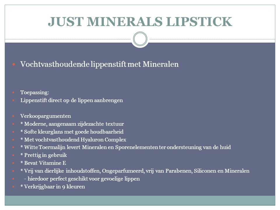 JUST MINERALS LIPSTICK
