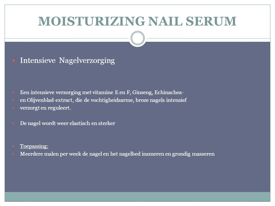 MOISTURIZING NAIL SERUM